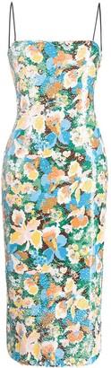 M Missoni Square Neck Floral Print Dress