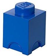 Lego Brick 1 Knob Stackable Storage Box, Bright Blue, 1.2 Litre