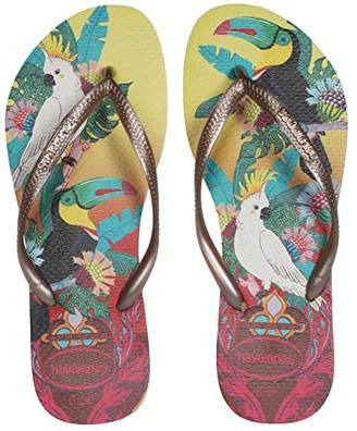 Havaianas Slim Tropical Flip Flops (Lemon Yellow) Women's Sandals