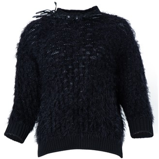 Simone Rocha Frayed Crystal Embellished Knit Top