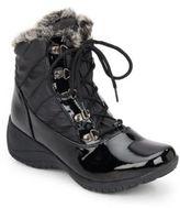 Khombu Leslie Quilted Faux Fur-Trimmed Boots