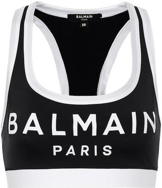 Balmain Logo stretch-jersey sports bra