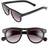 Topman Men's 47Mm Round Plastic Sunglasses - Black