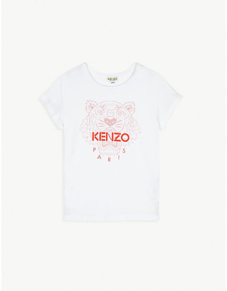 Kenzo Cotton logo print T-shirt 4-14 years
