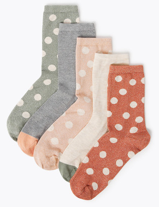 Marks and Spencer 5 Pack Sumptuously Soft Ankle Socks