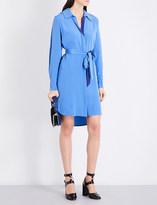 Diane von Furstenberg Oversized silk-crepe shirt dress