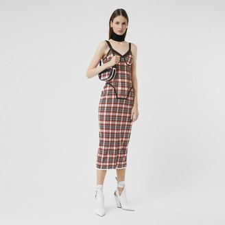 Burberry Check Stretch Jersey Corset Dress