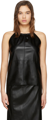 Áeron SSENSE Exclusive Black Faux-Leather Alicia Tank Top