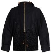 Kolor Hooded wool-blend field jacket
