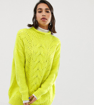 Stradivarius STR roll neck jumper in yellow