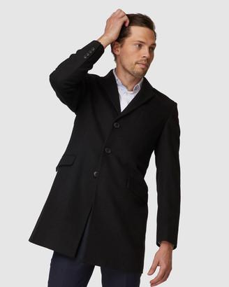 Jack London Black Topcoat