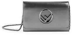 Fendi Women's Small Metallic Leather Wallet-On-Chain