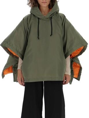 Comme des Garçons Comme des Garçons Oversized Cropped Hooded Jacket