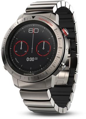 Garmin fenix Chronos Premium Multisport GPS Smartwatch with Brushed Titanium Hybrid Band