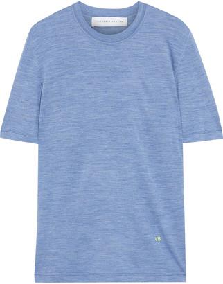 Victoria Beckham Melange Silk-jersey T-shirt