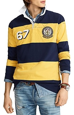 Polo Ralph Lauren Classic Fit Striped Jersey Rugby Shirt