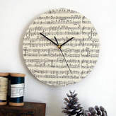 Made In Words Handmade Circular Personalised Music Clock