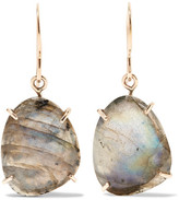 Melissa Joy Manning 14-karat Gold And Sterling Silver Labradorite Earrings - one size