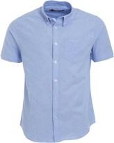 Ben Sherman Short Sleeve Plain Oxford Shirt Sky Blue