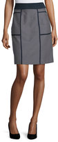 Lafayette 148 New York Madeline Narrow A-Line Skirt, Ink