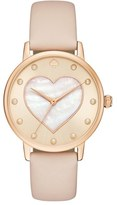 Kate Spade Women's Metro Mother-Of-Pearl Heart Watch, 34Mm