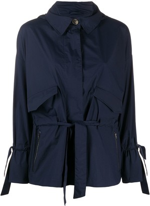 Herno Drawstring-Waist Hooded Jacket
