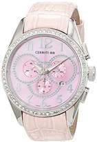Cerruti Women's Quartz Watch CT069521X04 with Leather Strap