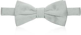 Forzieri Gray Woven Silk Pre-tied Bowtie