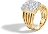 John Hardy Women's Bamboo Ring in 18K Gold with Diamonds
