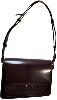 Marni Trunk Burgundy Leather Handbags