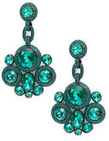 Kate Spade Green Stone-Accented Drop Earrings
