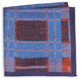 Saint Laurent Check Silk Pocket Square