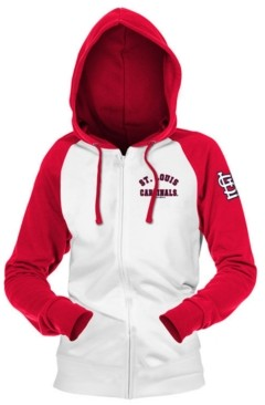 5th & Ocean St. Louis Cardinals Women's Zip-Up Contrast Hoodie
