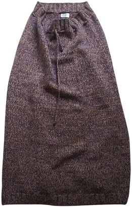 Alberta Ferretti Brown Wool Skirt for Women Vintage