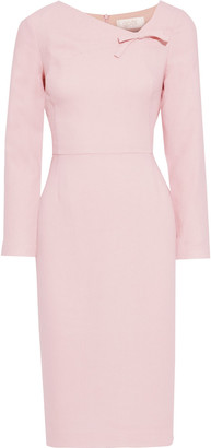 Goat Justine Bow-embellished Wool-crepe Midi Dress