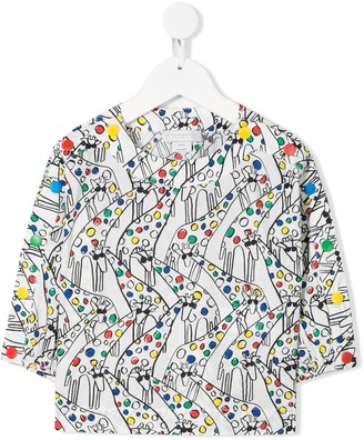 Stella McCartney Giraffe Print Long Sleeve Top