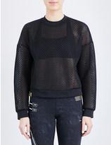 Monreal London Cropped mesh sweatshirt