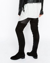 Asos KEEPERS Wide Leg Flat Over The Knee Boots