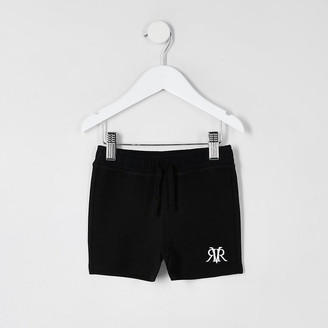 River Island Mini boys black RVR shorts