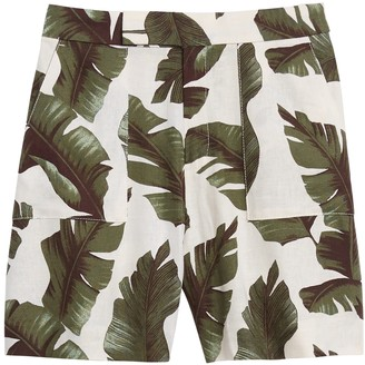 "Banana Republic High-Rise 5"" Linen-Blend Short"