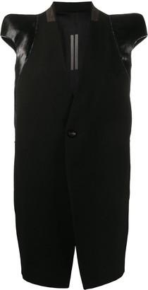 Rick Owens structured-shoulder short-sleeved jacket