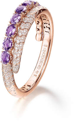 de Grisogono Doppia 18k Rose Gold Bracelet w/ Amethyst & Diamonds