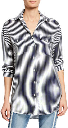 The Kooples James Striped Button-Down Shirt w/ Patch Pockets