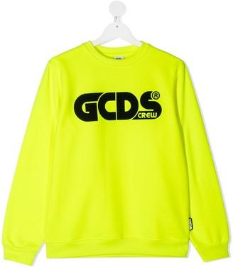 Gcds Kids TEEN logo-print sweatshirt