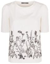 Max Mara Ondine Embroidered Front Jersey Back T-Shirt