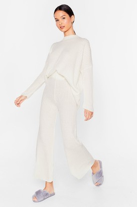 Nasty Gal Womens Take Knit Off jumper and trousers Lounge Set - Cream - 6