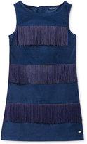 Tommy Hilfiger Velveteen Fringe Dress, Big Girls (7-16)