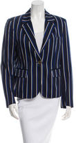 Burberry Striped Notch-Collar Blazer