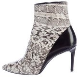 Barbara Bui Snakeskin Pointed-Toe Ankle Boots