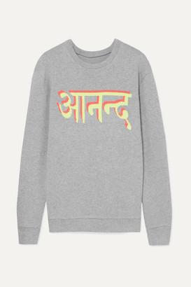 The Elder Statesman Intarsia Cashmere Sweater - Gray